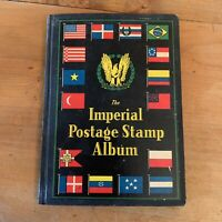 Vtg Imperial Postage Stamp Album Tons Of Stamps Included Stamp Collecting