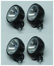"4PCS  SIX INCH  6"" OFF ROAD LIGHT TRUCK DRIVING/FOG  LIGHT BLACK HOUSING F1"