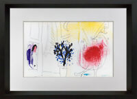 Marc CHAGALL Limited Edition ORIGINAL Lithograph w/FRAMING Included