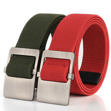 "2x 1.5"" Mens Stretch Belts Casual Heavy Duty Webbing Sports Trousers Waist Belt"