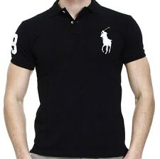 *NWT - POLO Ralph Lauren Men's Big Pony Custom Fit Polo Shirt - BLACK : S - 2XL