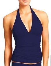 ATHLETA Shirrendipity Halter Tankini NWT, XL  Dress Blue, Fab Fit!