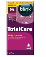 Blink TotalCare Daily Cleaner 2x15ml Remove Tough Bacteria Protein Contact Lense