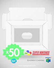 LOT DE 50 CALES INSERTS NEUFS POUR BOITES SUPER NINTENDO SNES N64