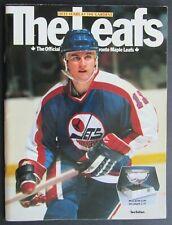 1982 Maple Leaf Gardens 50th Anniversary NHL Program Toronto vs Winnipeg Jets
