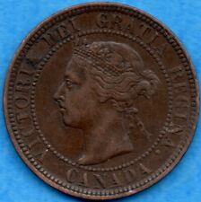 Canada 1901 1 Cent One Large Cent Coin - EF