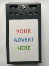 Business Opportunity - Ashtray Advertising Bins - give out free & sell ad space!