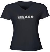 Class of 2020 #Quarantine Girls Juniors Women Tee T-Shirt Gift Shirts