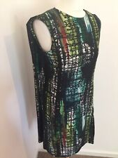 COS Dress 8 Green Multicolour Cape Back Races Cruise Wedding Guest Unusual