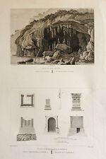 VALENCIA, ALICANTE. Cabo San Antonio, Daimús.Grabado original.A. Laborde,1806-20