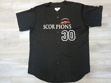 Arizona Fall League AFL #30 Scottsdale Scorpions MLB majestic Jersey LG L mens