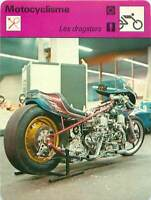 FICHE CARD: Dragster Drag racing  MOTORCYCLING 1970s