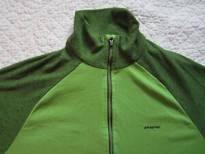 Patagonia 2 Tone Green 1/4 Zip Capilene2 Lightweight Shirt Base Layer Small