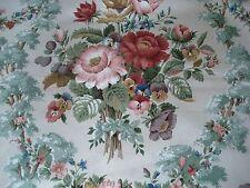 Vintage floral Sanderson fabric 'Chatsworth' large piece 125cm by 178cm