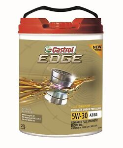 Castrol EDGE 5W-30 A3 B4 Engine Oil 20L 3421198 fits Land Rover Range Rover S...