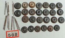 More details for #588 vintage hornby 42 tinplate o gauge wheels + a few axles