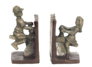Dollhouse Miniature Silver Seesaw Bookends