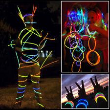 "100 X 8"" Premium Glow Sticks Bracelets Necklaces Party Favors Rally Raves EDC"