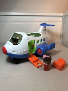 Fisher Price - Little People Plane - Battery Operated Sounds & Music - 2 Figures