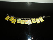 Antique 1950s Charm Bracelet TEN COMMANDMENTS Words & Hologram Pictures