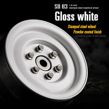 Gmade RC 1/10 SCALE TRUCK RIMS 1.9 Steel Stamped WHEELS For RC TRUCKS -WHITE-