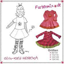Farbenmix Schnittmuster Henrika (Girly-Kleid Gr.98-140)