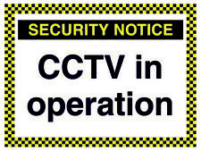 Security Notice - Cctv In Operation Sign *Warning New Laminated Sign*