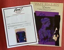 """REAL EPPERSON VAN HALEN signed by all 4 GENUINE autographed """"DREAMS"""" sheet music"""