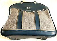 Vintage Vinyl Inverness Teal Brunswick Bowling Ball Metal Wire Rack Shoe Bag