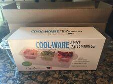 COOL WARE 8 Pc Taste Station Set Cooler Chill Food Server