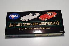 ^^^ 1:43 CORGI TOYS 97680 JAGUAR GIFT SET 30TH ANNIVERSARY E-TYPE RED GREY MIB