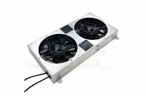 PHR Dual Brushless 12 inch SPAL Fan Kit Raw Finish For Supra 93-98 MKIV 2JZ-GTE