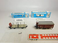 AU288-0,5# 2x Märklin H0/AC Güterwagen DRG: 4695+4697 Drehschemelwagen, OVP