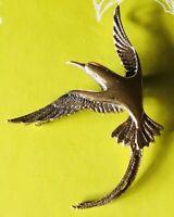 Vintage Art Nouveau Gold Fill Over Sterling Bird Pin/Brooch