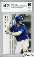 Pete Alonso 2018 Leaf #2 EXCLUSIVE Limited Edition Rookie BECKETT 10 MINT Mets!