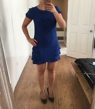 Women's Primark Blue And Black Spotted Summer Dress Size 8