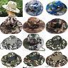 Mens Bucket Hat Boonie Wide Brim Sun Cap Military Fishing Hunting Hiking Hats