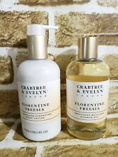 NEW Crabtree Evelyn Florentine Freesia Set Duo Shower Gel Lotion 10.1 Fl Oz