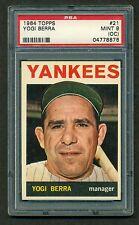 Yogi Berra 1964 Topps PSA mint 9 (OC) #21 awesome looking card!!!!