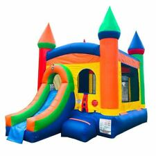 Pogo Kids Rainbow Premium Inflatable Bounce House Slide Combo With FREE Blower