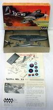 Hawk 5~Spitfire Mk.22~1/72 Scale~1967 Plastic Model Airplane Kit~WW2