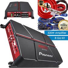 Pioneer GM-A4704 520 Watt 4-Ch Car Audio Full Range Amplifier + 4-Ch Amp Kit