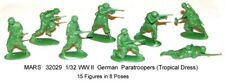 32029 Mars 1/32 WWII German Paratroopers (Tropical Dress)  toy soldiers 15 in 8
