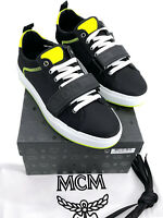MCM Authentic Neon Green Black Nylon Low Top Strap Sneakers 10 US 9 W/ Box New