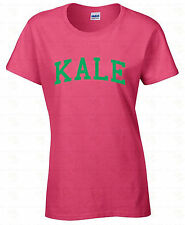 KALE WOMEN T-SHIRT Vegan Ladies Shirt Gift Funny Organic Vegetarian GREEN Logo