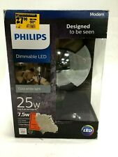 Philips 25W Dimmable LED Modern Glass Edison Large Light Bulb, Cool White