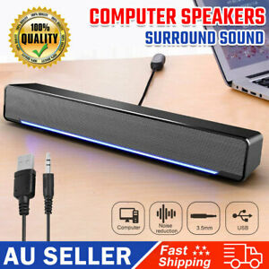 3.5mm Portable Wired Computer Speakers USB Subwoofer For TV PC Laptop Desktop