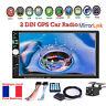 """7"""" 2DIN Autoradio Écran tactile MP5 Bluetooth GPS Navi Stéréo Lien miroir+Caméra"""