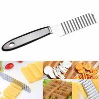 Edelstahl-Kartoffel-Chip-Gemüse-Schneidmesser-Schneidmesser-Wellen Messer P0M6