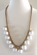 NWT J. CREW Beaded Gold/ WHITE Necklace